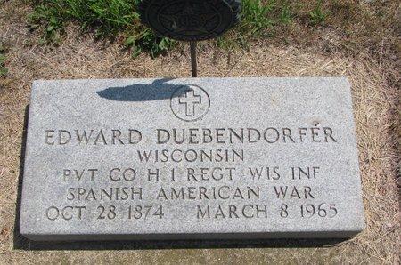 DUEBENDORFER, EDWARD - Turner County, South Dakota | EDWARD DUEBENDORFER - South Dakota Gravestone Photos