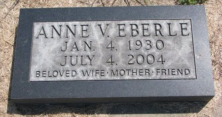EBERLE, ANNE V. - Turner County, South Dakota   ANNE V. EBERLE - South Dakota Gravestone Photos