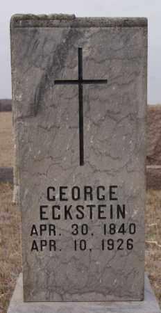 ECKSTEIN, GEORGE - Turner County, South Dakota   GEORGE ECKSTEIN - South Dakota Gravestone Photos