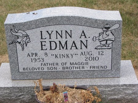 "EDMAN, LYNN A. ""KINKY"" - Turner County, South Dakota | LYNN A. ""KINKY"" EDMAN - South Dakota Gravestone Photos"
