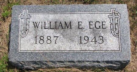 EGE, WILLIAM E. - Turner County, South Dakota   WILLIAM E. EGE - South Dakota Gravestone Photos