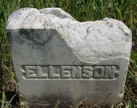 ELLENSON, UNKNOWN - Turner County, South Dakota | UNKNOWN ELLENSON - South Dakota Gravestone Photos