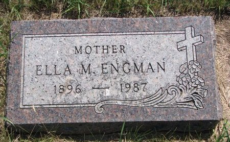 ENGMAN, ELLA M. - Turner County, South Dakota   ELLA M. ENGMAN - South Dakota Gravestone Photos