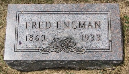 ENGMAN, FRED - Turner County, South Dakota | FRED ENGMAN - South Dakota Gravestone Photos