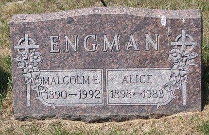 ENGMAN, ALICE - Turner County, South Dakota   ALICE ENGMAN - South Dakota Gravestone Photos