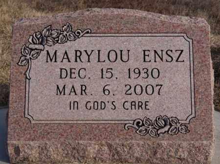 ENSZ, MARYLOU - Turner County, South Dakota   MARYLOU ENSZ - South Dakota Gravestone Photos