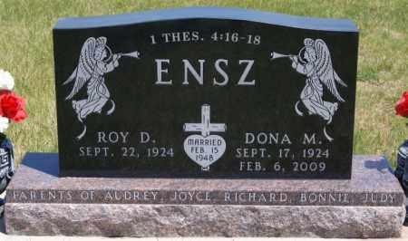 ENSZ, ROY D - Turner County, South Dakota | ROY D ENSZ - South Dakota Gravestone Photos