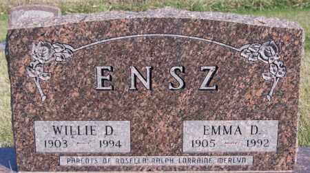 ENSZ, WILLIE D - Turner County, South Dakota | WILLIE D ENSZ - South Dakota Gravestone Photos