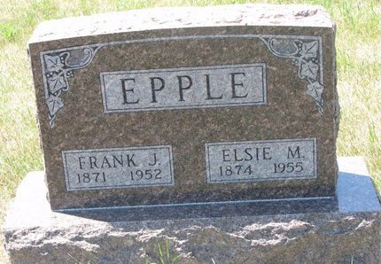 EPPLE, FRANK J. - Turner County, South Dakota | FRANK J. EPPLE - South Dakota Gravestone Photos
