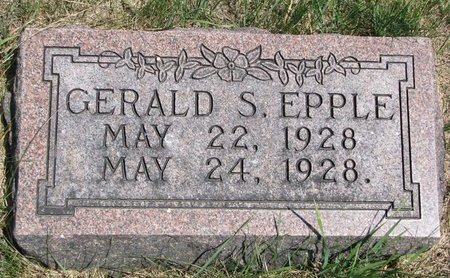 EPPLE, GERALD S. - Turner County, South Dakota | GERALD S. EPPLE - South Dakota Gravestone Photos
