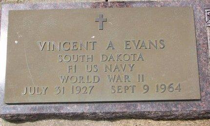 EVANS, VINCENT A. - Turner County, South Dakota   VINCENT A. EVANS - South Dakota Gravestone Photos