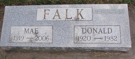 FALK, DONALD - Turner County, South Dakota | DONALD FALK - South Dakota Gravestone Photos