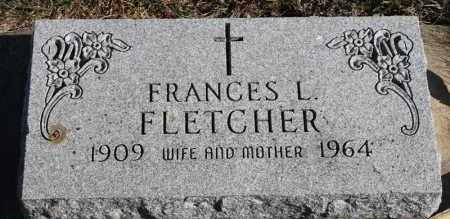 FLETCHER, FRANCES L - Turner County, South Dakota   FRANCES L FLETCHER - South Dakota Gravestone Photos