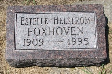 HELSTROM FOXHOVEN, ESTELLE - Turner County, South Dakota | ESTELLE HELSTROM FOXHOVEN - South Dakota Gravestone Photos
