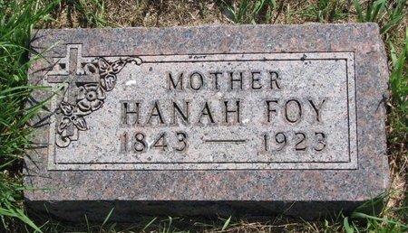 FOY, HANAH - Turner County, South Dakota | HANAH FOY - South Dakota Gravestone Photos