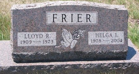 FRIER, HELGA I. - Turner County, South Dakota | HELGA I. FRIER - South Dakota Gravestone Photos