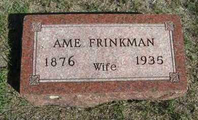 STATER FRINKMAN, AME - Turner County, South Dakota | AME STATER FRINKMAN - South Dakota Gravestone Photos