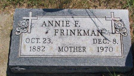 KINNEY FRINKMAN, ANNIE F. - Turner County, South Dakota | ANNIE F. KINNEY FRINKMAN - South Dakota Gravestone Photos