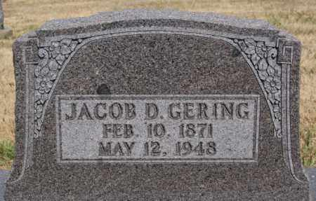 GERING, JACOB D - Turner County, South Dakota   JACOB D GERING - South Dakota Gravestone Photos
