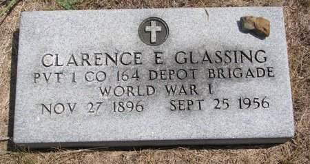 GLASSING, CLARENCE E. - Turner County, South Dakota | CLARENCE E. GLASSING - South Dakota Gravestone Photos