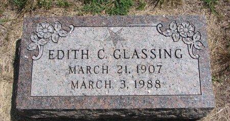 GLASSING, EDITH C. - Turner County, South Dakota | EDITH C. GLASSING - South Dakota Gravestone Photos