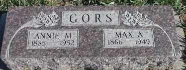 GORS, ANNIE M - Turner County, South Dakota | ANNIE M GORS - South Dakota Gravestone Photos