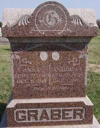 GRABER, ANDREAS - Turner County, South Dakota | ANDREAS GRABER - South Dakota Gravestone Photos