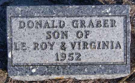 GRABER, DONALD - Turner County, South Dakota | DONALD GRABER - South Dakota Gravestone Photos