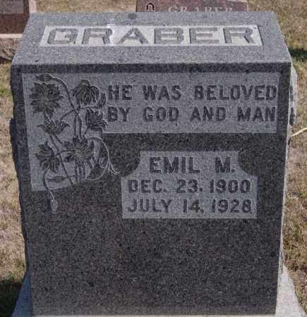 GRABER, EMIL M - Turner County, South Dakota   EMIL M GRABER - South Dakota Gravestone Photos