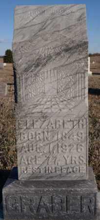 GRABER, ELEZABETH - Turner County, South Dakota   ELEZABETH GRABER - South Dakota Gravestone Photos