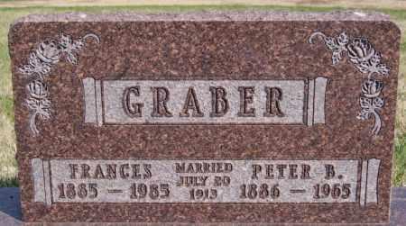 GRABER, FRANCES - Turner County, South Dakota | FRANCES GRABER - South Dakota Gravestone Photos