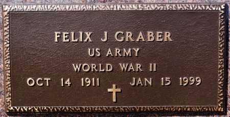 GRABER, FELIX J (WWII) - Turner County, South Dakota   FELIX J (WWII) GRABER - South Dakota Gravestone Photos