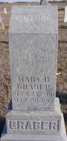 GRABER, MARY B - Turner County, South Dakota   MARY B GRABER - South Dakota Gravestone Photos
