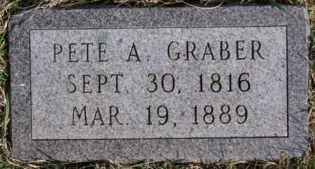 GRABER, PETE A - Turner County, South Dakota | PETE A GRABER - South Dakota Gravestone Photos