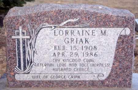 GRIAK, LORRAINE M - Turner County, South Dakota | LORRAINE M GRIAK - South Dakota Gravestone Photos