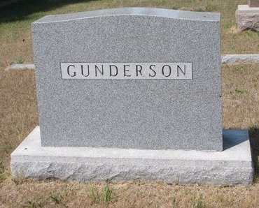 GUNDERSON, *FAMILY MONUMENT - Turner County, South Dakota | *FAMILY MONUMENT GUNDERSON - South Dakota Gravestone Photos