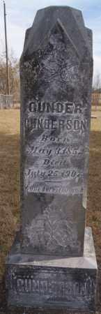 GUNDERSON, GUNDER - Turner County, South Dakota | GUNDER GUNDERSON - South Dakota Gravestone Photos