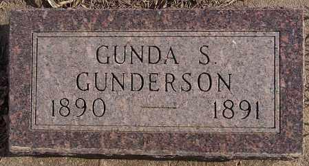 GUNDERSON, GUNDA S - Turner County, South Dakota | GUNDA S GUNDERSON - South Dakota Gravestone Photos