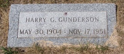 GUNDERSON, HARRY G. - Turner County, South Dakota | HARRY G. GUNDERSON - South Dakota Gravestone Photos