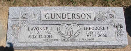 GUNDERSON, LAVONNE J. - Turner County, South Dakota | LAVONNE J. GUNDERSON - South Dakota Gravestone Photos