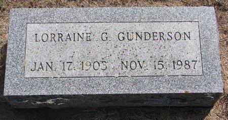 GUNDERSON, LORRAINE G. - Turner County, South Dakota | LORRAINE G. GUNDERSON - South Dakota Gravestone Photos