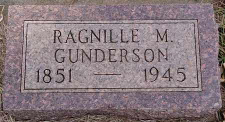 GUNDERSON, RAGNILLE M - Turner County, South Dakota | RAGNILLE M GUNDERSON - South Dakota Gravestone Photos