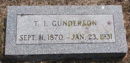 GUNDERSON, T.I. - Turner County, South Dakota   T.I. GUNDERSON - South Dakota Gravestone Photos