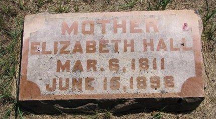 HALL, ELIZABETH - Turner County, South Dakota   ELIZABETH HALL - South Dakota Gravestone Photos