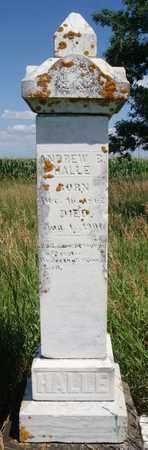 HALLE, ANDREW B - Turner County, South Dakota   ANDREW B HALLE - South Dakota Gravestone Photos