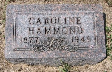 HAMMOND, CAROLINE - Turner County, South Dakota | CAROLINE HAMMOND - South Dakota Gravestone Photos