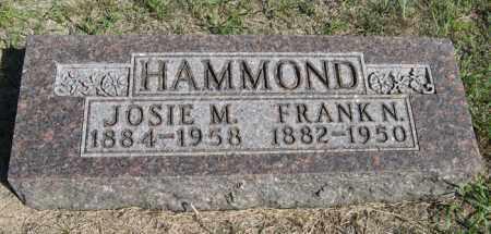 HAMMOND, FRANK N. - Turner County, South Dakota | FRANK N. HAMMOND - South Dakota Gravestone Photos