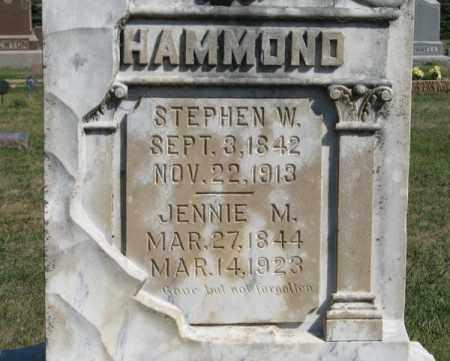 HAMMOND, STEPHEN W. (CLOSEUP) - Turner County, South Dakota   STEPHEN W. (CLOSEUP) HAMMOND - South Dakota Gravestone Photos