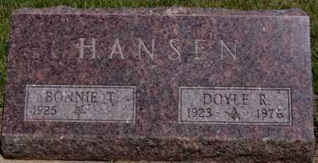 HANSEN, DOYLE R - Turner County, South Dakota   DOYLE R HANSEN - South Dakota Gravestone Photos