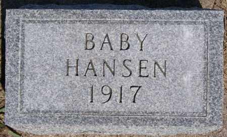 HANSEN, BABY - Turner County, South Dakota | BABY HANSEN - South Dakota Gravestone Photos